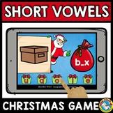 MEDIAL SOUND SHORT VOWELS CVC WORD WORK (CHRISTMAS ACTIVITY KINDERGARTEN)