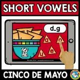 MEDIAL SOUND SHORT VOWELS CVC WORD WORK (CINCO DE MAYO ACT