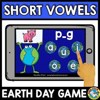 MEDIAL SOUND SHORT VOWELS CVC WORD WORK (EARTH DAY ACTIVITY KINDERGARTEN)