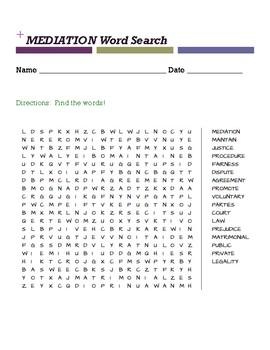 MEDIATION Word Search