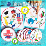"""MEDICAL TERMS SHOUT OUT; Spot the Match game, 3"""" & 5"""" circ"""