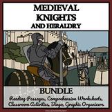 MEDIEVAL KNIGHTS & HERALDRY - READING COMPREHENSION, BINGO