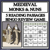 MEDIEVAL MONKS AND NUNS - Reading Passages and Bingo Review Game