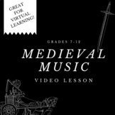 Medieval Music - Video Lesson Project Handout