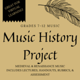 Medieval & Renaissance Music - Project - Distance Learning, Independent