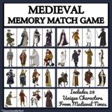 MEDIEVAL TIMES CHARACTERS - MEMORY MATCHING GAME