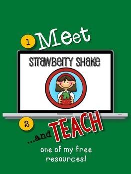 MEET Strawberry Shake then TEACH about Food Chains  FREE Meet/Teach Interactive