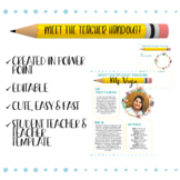 MEET THE TEACHER EDITABLE TEMPLATES