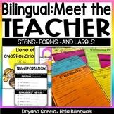 MEET THE TEACHER- BILINGUAL- EDITABLE