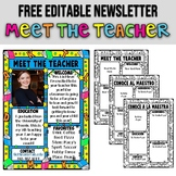 MEET THE TEACHER ★ EDITABLE NEWSLETTER ★ FREE PRINTABLES