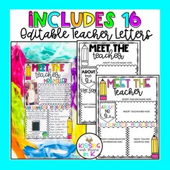 MEET THE TEACHER Editable Letter