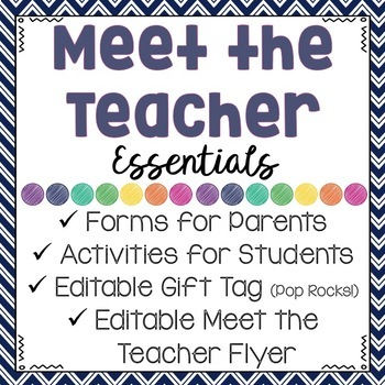 meet the teacher night essentials important forms activities