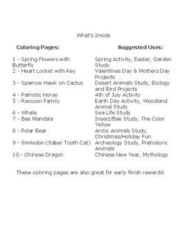MEGA 10 Free - Holiday, Seasonal, Biology Coloring Pages