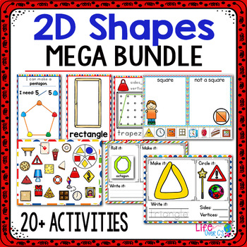 MEGA 2D Shapes Activity Pack | 2D Shape Centers | Math Centers