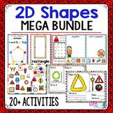 2D Shapes Activity MEGA Pack | 2D Shape Centers | Math Centers