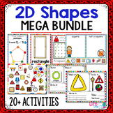 2D Shapes Activity MEGA Pack | 2D Shape Centers | Math Centers