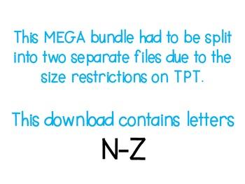 MEGA Alphabet Clipart Bundle N-Z {A Hughes Design}