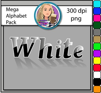 MEGA Alphabet Pack Clipart