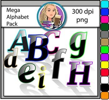 MEGA Alphabet Pack Clipart