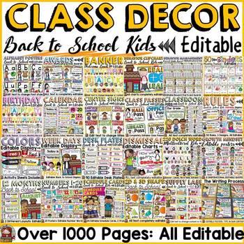 MEGA BACK TO SCHOOL CLASS DECOR BUNDLE {KIDS & ICE-CREAM CHEVRON}