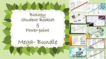 MEGA BUNDLE: 10 Biology Unit Student Booklets and Powerpoints