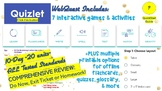 MEGA BUNDLE 10-Day Interactive Study Year-End Test Review-Flashcards,Game,Quiz