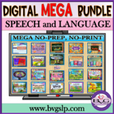 MEGA BUNDLE 20 Complete Speech Language Literacy w/ BOOM CARDS - Teletherapy