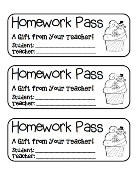MEGA BUNDLE – 22 Holiday Homework Pass Collection! (black line)