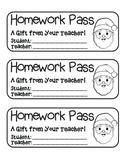 MEGA BUNDLE – 22 Holiday Homework Pass Collection! (black line)