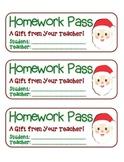 MEGA BUNDLE – 22 Holiday Homework Pass Collection! (black line & full color)