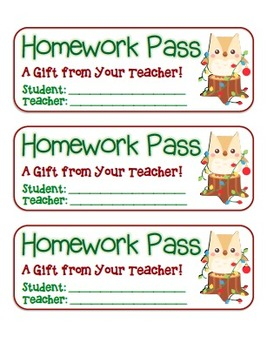 MEGA BUNDLE – 22 Holiday Homework Pass Collection! (black line & full color)
