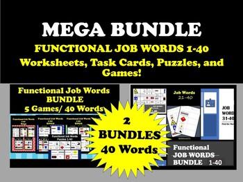 MEGA BUNDLE! 40 Functional Job Words 2 Bundles/ 14 Items!