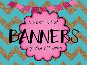 {MEGA BUNDLE} 66 Banners for an ENTIRE Year