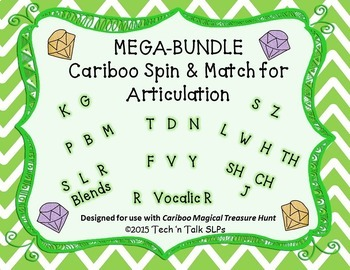 MEGA-BUNDLE Cariboo Spin & Match for Articulation