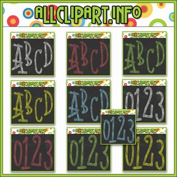 MEGA BUNDLE - Chalk Alphas & Numbers - All Colors - 2 SETS FREE!!!