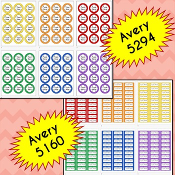 BUNDLE Chevron Labels Editable Classroom Notebook Folder Name Tags (RAINBOW)
