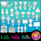 MEGA BUNDLE. Colonial Kids, BLACK AND WHITE/ Color clipart. {Lilly silly Billy}