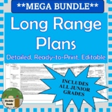 MEGA BUNDLE *Editable* Detailed Long Range Plans JUNIOR ON