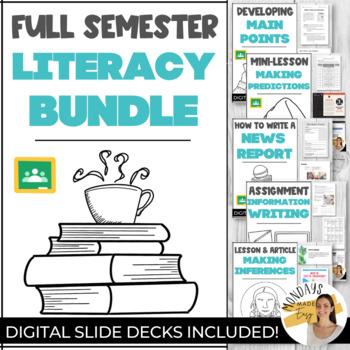 MEGA BUNDLE High School LITERACY Unit | OLC / OSSLT Prep Lessons, Worksheets
