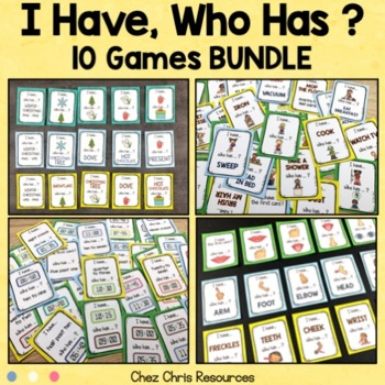 I Have Who Has Game - 10 Games BUNDLE - Vocabulary