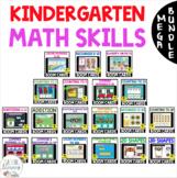 MEGA BUNDLE Kindergarten Math BOOM CARDS Distance Learning