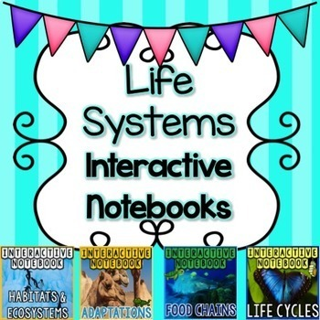 BUNDLE Life Systems Science Interactive Notebook