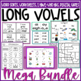 Long Vowels Worksheets Word Sorts Assessments DIGITAL & PR
