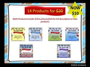 {MEGA BUNDLE} Mega Math Bundle-Includes 14 Hands-On Math Products $10