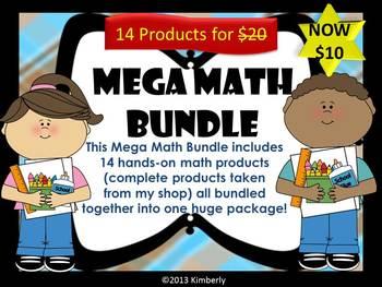 {MEGA BUNDLE} Mega Math Bundle-Includes 14 Hands-On Math P