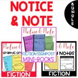 MEGA BUNDLE-Notice & Note Signpost Graphic Organizers, Sticky Notes & Mini Books