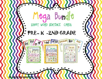 MEGA BUNDLE OF MY SIGHT WORD CENTER POSTER PRE-K-2ND(from Dolch list)