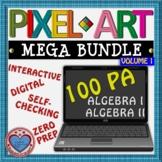 MEGA BUNDLE PIXEL ART: ALGEBRA I & ALGEBRA II - DISTANCE L