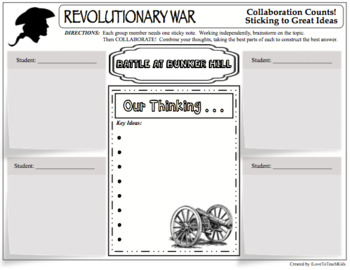 MEGA BUNDLE - REVOLUTIONARY WAR BATTLES 108 Activities