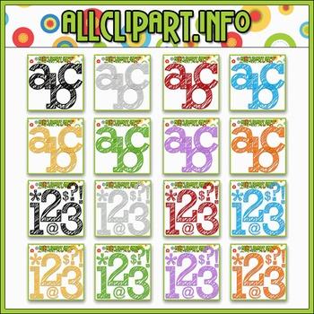 MEGA BUNDLE - Scribble Alphas, Numbers & Symbols - All Colors - 4 SETS FREE!!!